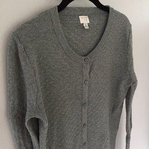 Gray Textured Cardigan